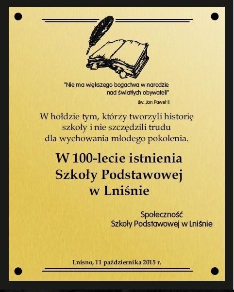 100-lecie Szkoły Podstawowej w Lniśnie